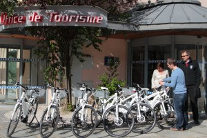 The tourist office takes reception of Chamonix's new electric bikes.